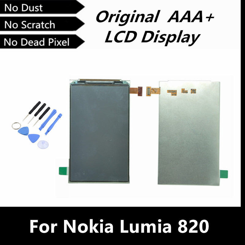 100 Working Well LCD Replacement For Nokia Lumia 820 LCD Screen Display Glass with Free Tools