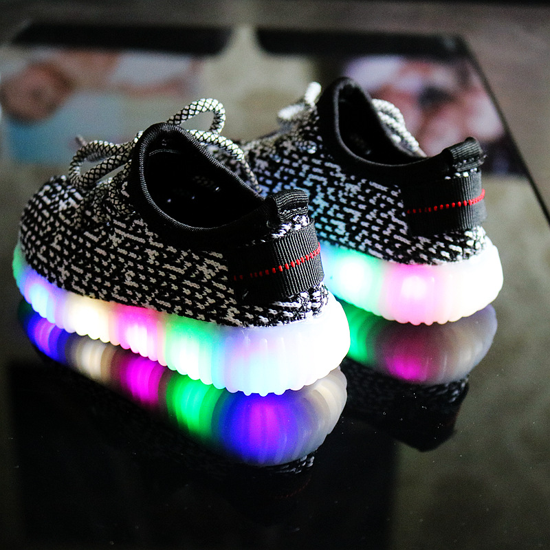 Mother & Kids 2018 New Fashion Childrens Laces Light Led Lights Girls Princess Shoes Breathable Boys Casual Shoes Children's Shoes