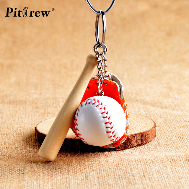 1pc baseball key rings car stickerstoy children anime action figure