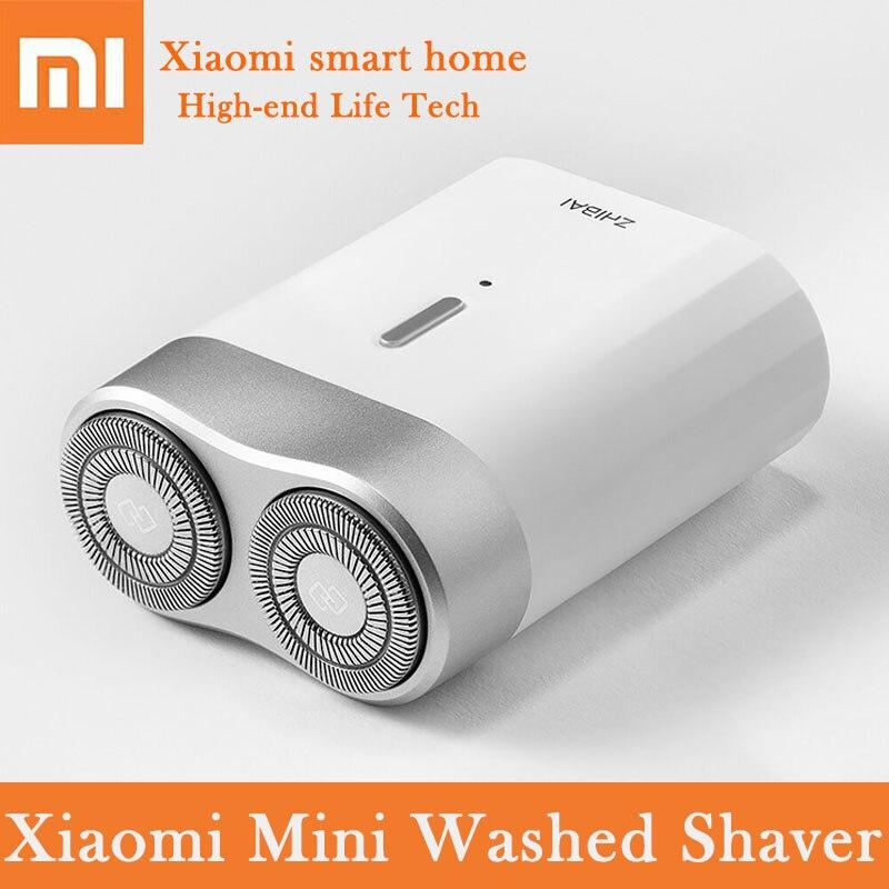 Xiao mi mi rasoir électrique en acier inoxydable tête de coupe USB type-c rechargeable 900 mAh 30 jours d'autonomie mi ni couteau à barbe hommes