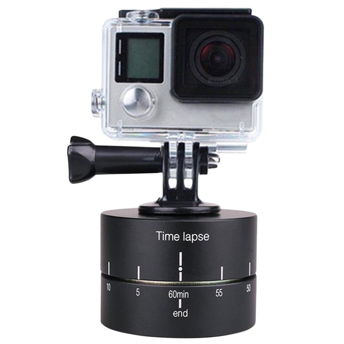 HONGDAK Time lapse 360 Degree Auto Rotate Camera Tripod Head Base Time lapse 120minutes For Xiaoyi GoCamera SLR For iPhone