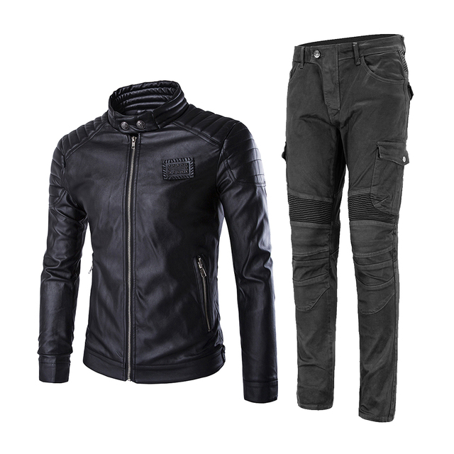 2019 New Motorcycle Jacket + Motorcycle Pants Moto Jeans Protective Gear Riding Motorbike Motocross Riding Pantalon Moto Pants