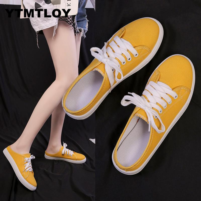 2019 Women Sneakers Canvas Shoes Lace Up Casual Shoes Women Flats White Shoes Candy Color Breathable Shoes Ladies Espadrilles2019 Women Sneakers Canvas Shoes Lace Up Casual Shoes Women Flats White Shoes Candy Color Breathable Shoes Ladies Espadrilles