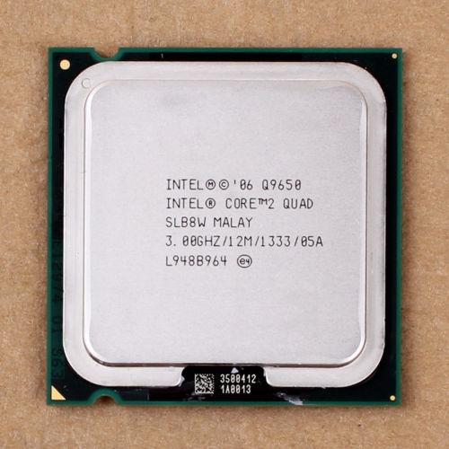 Prix pour 100% de Travail Pour Intel Core 2 Quad Q9650 SLB8W 3.0 GHz 12 MB 1333 MHz Socket 775 Processeur cpu