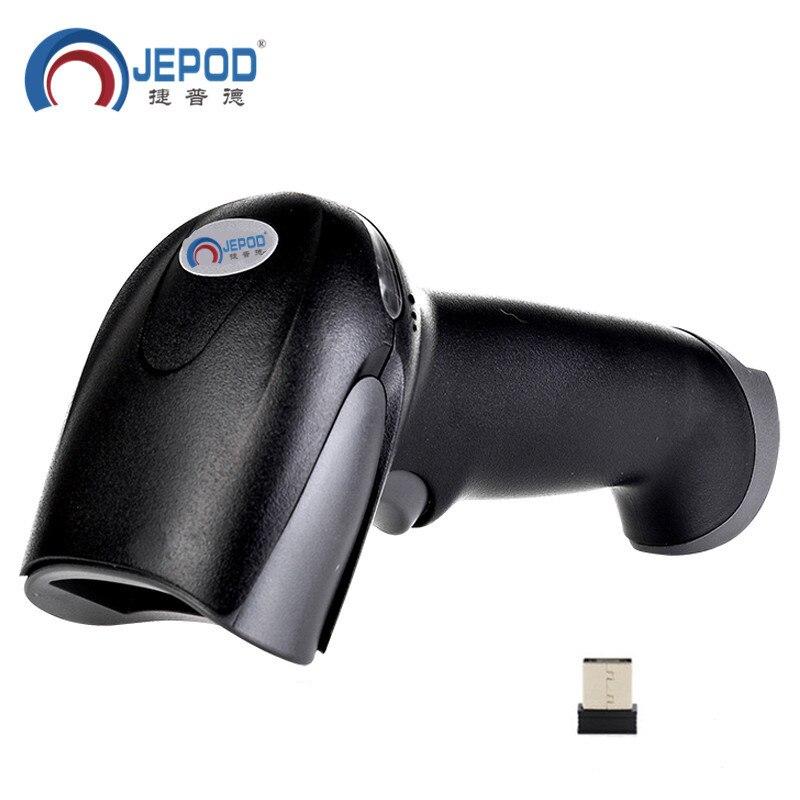 JP-A2 Бесплатная доставка беспроводной сканер штрих-кода беспроводной лазерный сканер штрих-кодов USB Ручной беспроводной считыватель штрих-к...