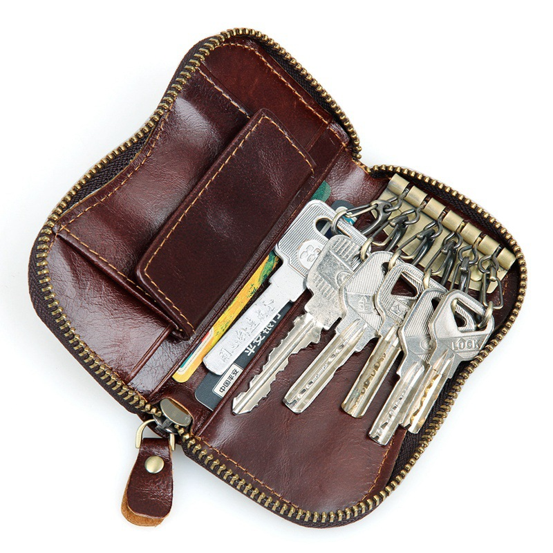 Artmi Leather Key Holder Wallet Coin Purse Oversized Zip Around Key ... 4090c68b2e