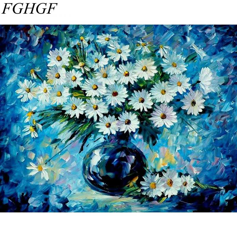 FGHGF Frameless Pictures Painting By Numbers Hand Painted Oil On Canvas Home Decor Wall Art Impressionist