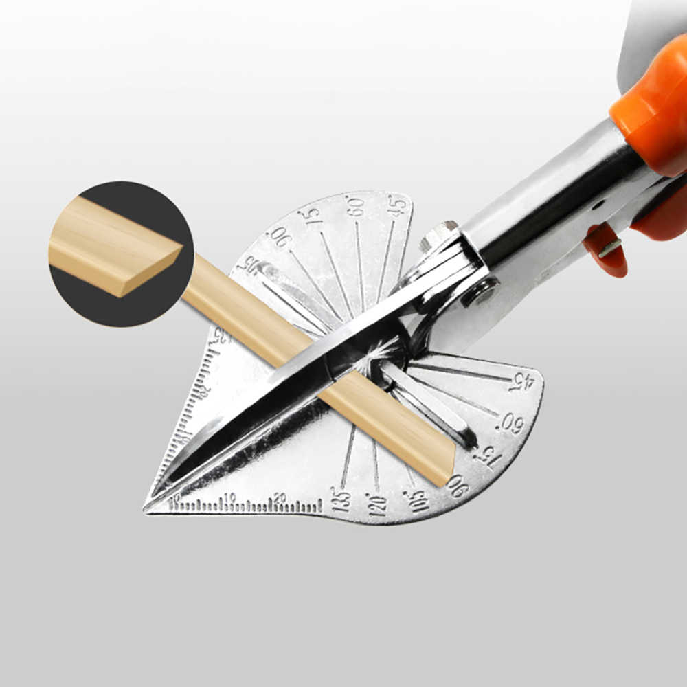 หลายมุมตัดลวดท่อ Trunking กรรไกรตัดไม้ตัดเครื่องมือ Crimper สายตัดกรรไกร 0-135 องศา