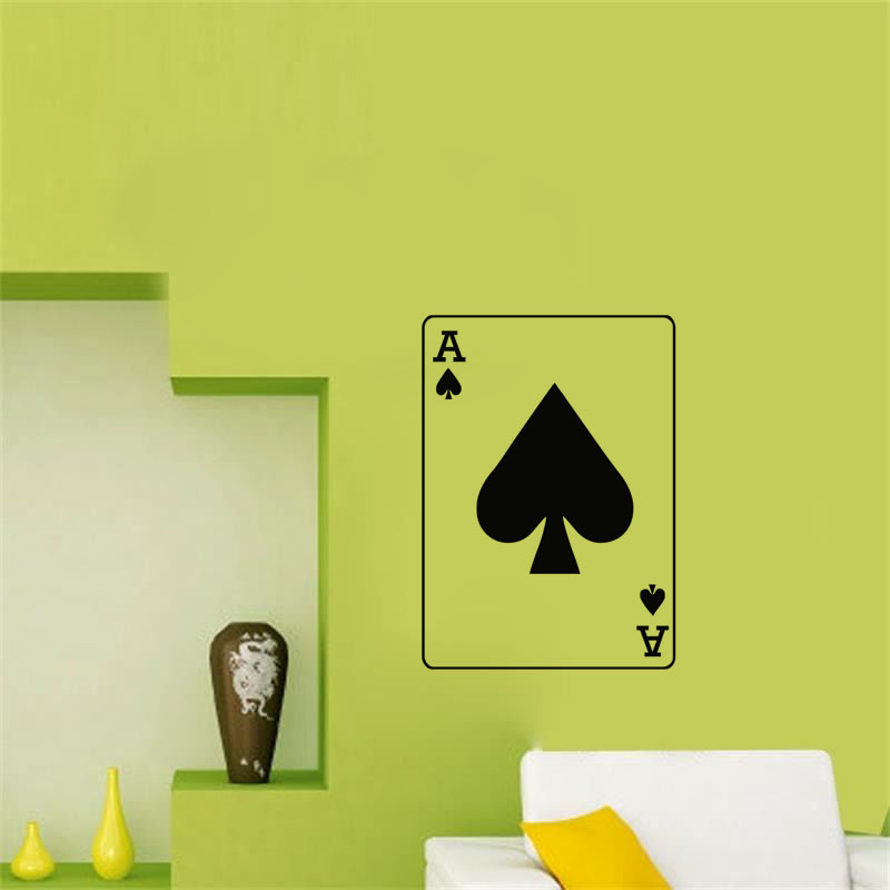 Ace Of Spades Wall Stickers Poker Hobbies Bedroom Wall Decals Vinyl ...