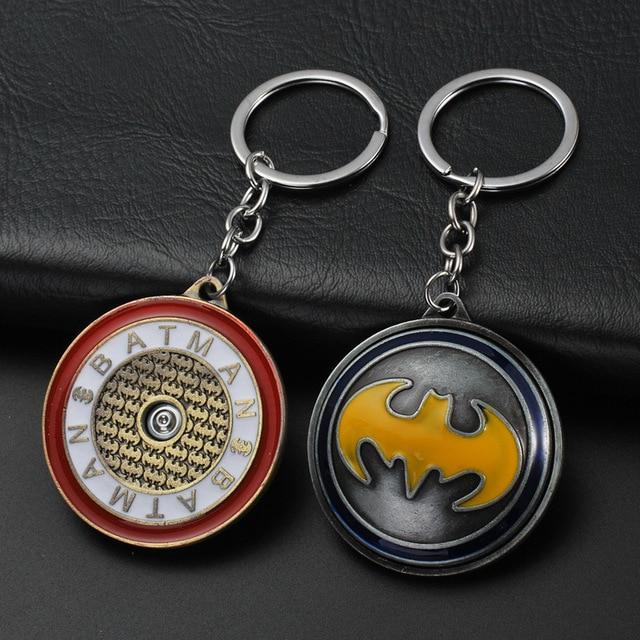 Брелок круглый крутящийся с логотипами героев Марвел и DS Comics 1