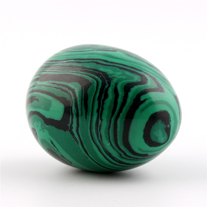 30 40mm Malachite Natural Carnelian Stone Carved Crafts Eggs With Wood Stand Decoration Chakra Healing Reiki Beads Free Pouch in Beads from Jewelry Accessories