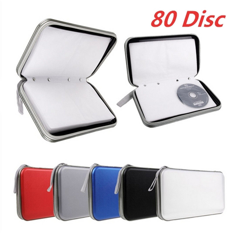 Fashion Multi Colors 80x Disc CD DVD Portable Storage Case Wallet Hard Box Bag Holder