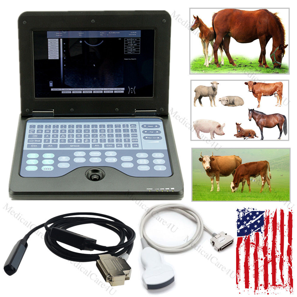 цена на US Seller Veterinary Ultrasound VET Laptop System Machine with 2 Probes FDA CONTEC