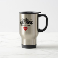 Funny Cardiac Surgeons Fix Broken Hearts Travel Mug Stainless Steel coffee Cup with Handle Great Gift Mugs 14 Ounce