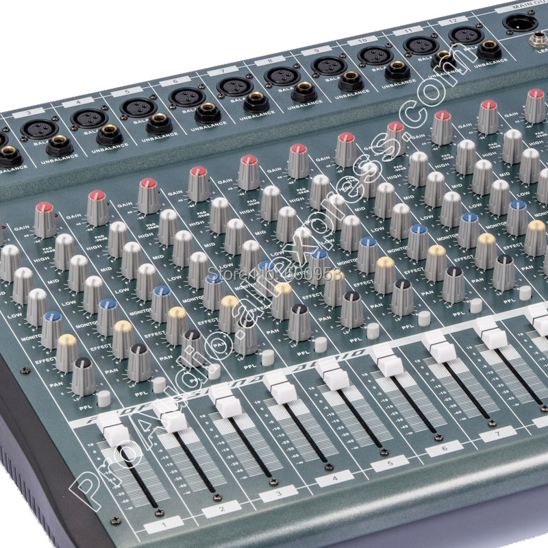 MICWL YU3516 16 Channel 3 Band EQ Audio Music Mixer Mixing Console with USB XLR LINE 48V Phantom Power for Stage TV in Amplifier from Consumer Electronics