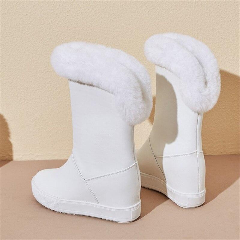 ENMAYER bolso de Primavera de tacón alto zapatos de mujer zapatos de punta cuadrada Tacón cuadrado Plataforma de las mujeres zapatos casuales zapatos de encaje saliendo con sólido superficial zapatos de señora - 5