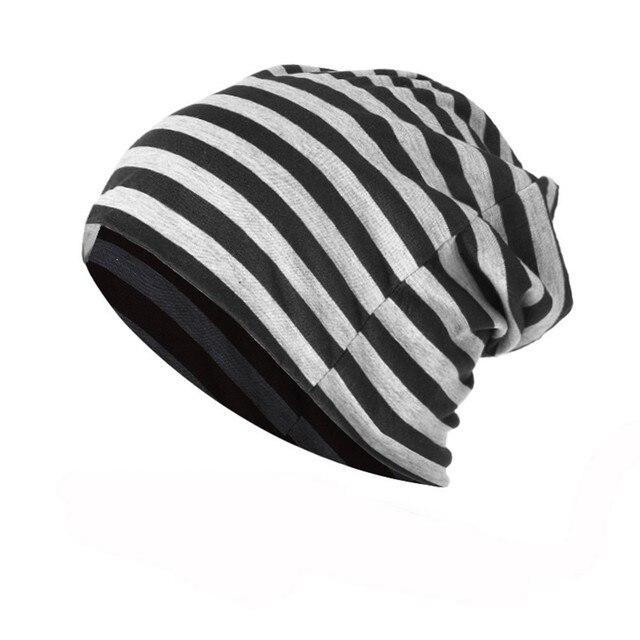 Winter Hat For Women Men Striped Warm Crochet Winter Knit Ski Beanie Skull  Slouchy Caps Brand New Female Male Hats 1030 a95ee96efebc