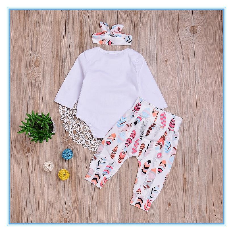 wuawua 3pcs ρούχα νεογέννητο κορίτσι μωρό λευκό βαμβάκι βαμβακερό ... fbe821721a9
