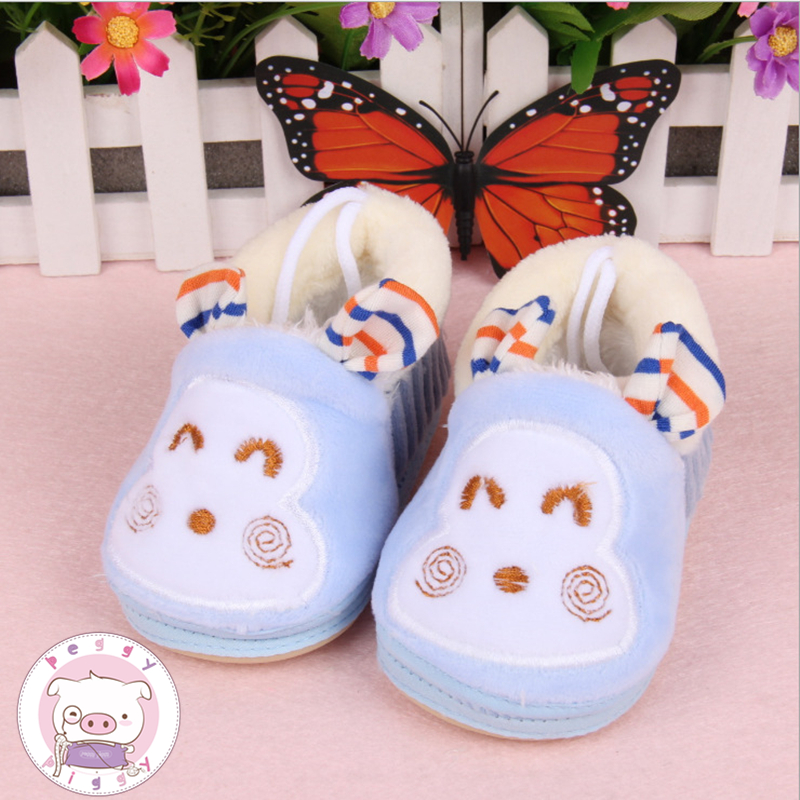 PEGGY PIGGY Winter Boys Girls House Cotton Sheep Shoes Kids Slippers Indoor Baby Fur Warm Slippers Children Shoes