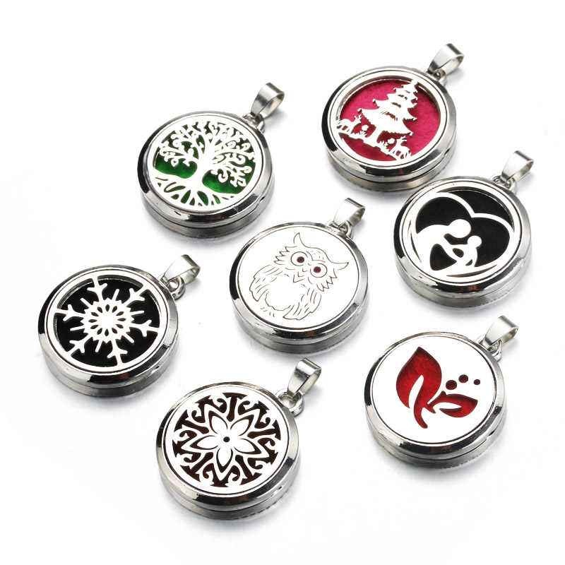 1pcs/lot 7 styles Magnetic Aromatherapy Diffuser Necklace Jewelry Perfume Pendant Essential Oil Scent Necklace Locket gift