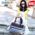 Новый полосатый большой ребенок подгузник сумки Стильный мумия сумка многофункциональный материнства мать мешки детская коляска мешок