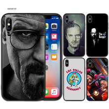 Breaking Bad chimie Walter blanc noir gommage Silicone téléphone coque souple couverture pour iPhone XS Max X XR 6 6 s 7 8 Plus 5 SE 5 S(China)