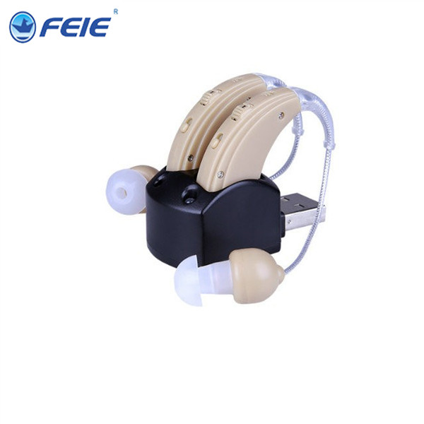 A Pair of Analog Rechargeable Hearing Aid Behide the Ear S-109S aide auditive 2017 of the latest fashion have a lovely the hat of the ear lovely naughty lady s hat women s warm and beautiful style