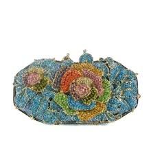 2016 neue Mode Frauen Blumen Diamant Elegante Kristall Handtasche Hohe Qualität Tag Clutch Abendparteibeutel