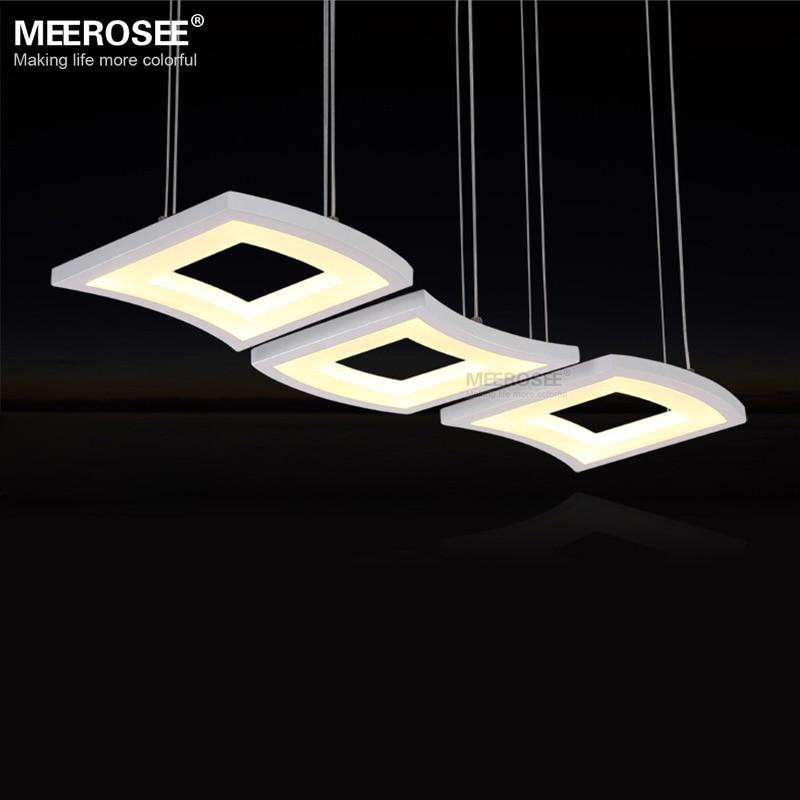 kitchen lights hanging storage carts modern led pendant light wave acrylic lustres luminaria ...