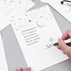 Винтажное бумажное письмо Европейского типа высокого класса бронзовая Звездная луна благословение письмо с конвертом письмо
