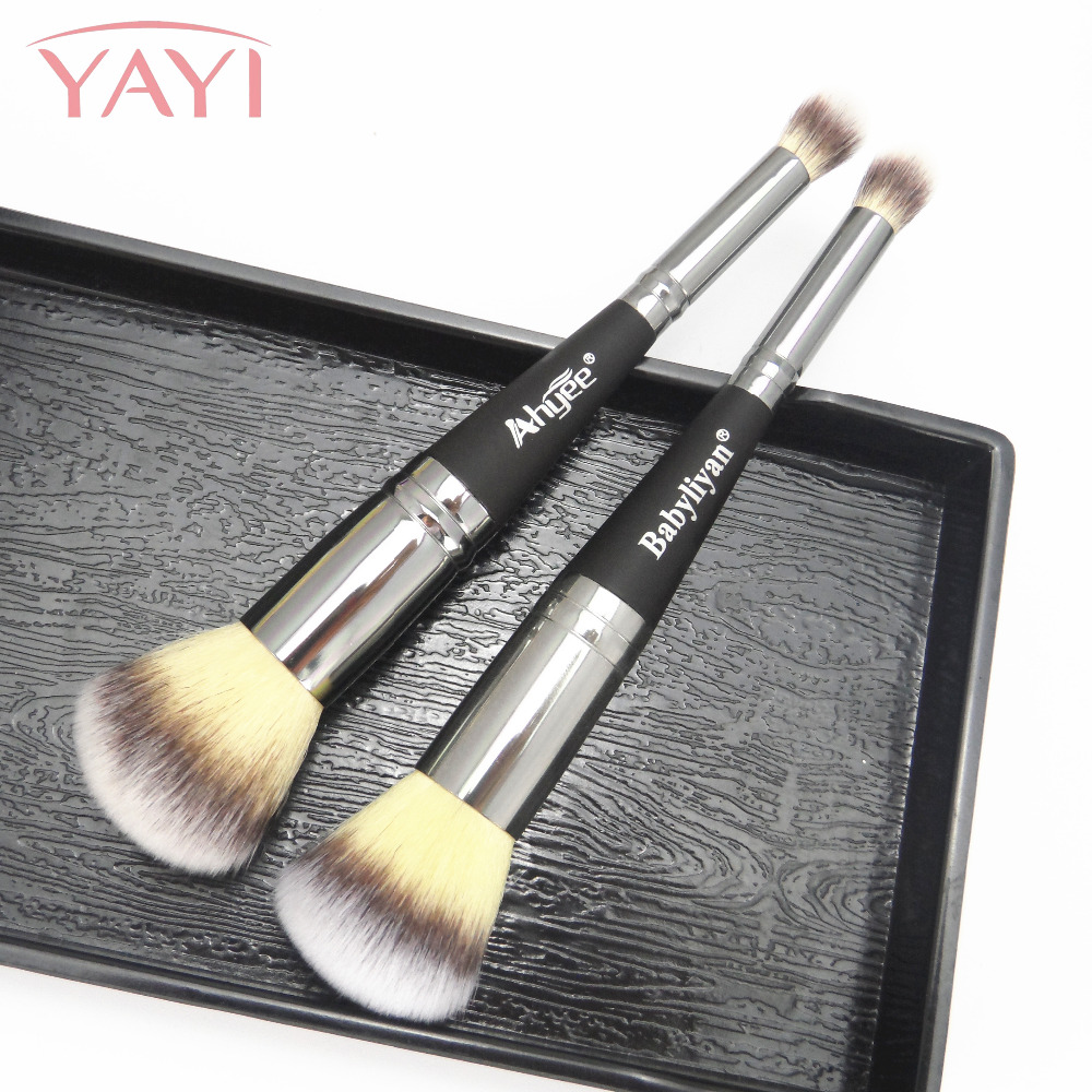 It is N7 Dual End Deluxe Duo Makeup Brush Blending Eyeshadow Blush Brush Cosmetic Makeup Double Head Powder Brush Cosmetic tool