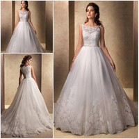 Custom Made vestido de noiva robe de mariee 2018 Ball Gown See Through Back bridal Gown Brides mother of the bride dresses