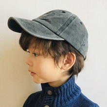 100% Cotton Washed Vintage Baseball Cap Kids Snapback Children Hip Hop Cap Boys Girls Baseball Hat