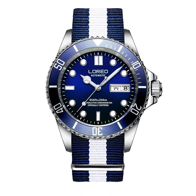 LOREO 9203 Germany watches men luxury brand automatic self-wind luminous waterproof 200M oyster perpetual Diver Stainless Steel loreo 9203 germany diver 200m oyster perpetual air king automatic self wind luminous watches men luxury brand stainless steel