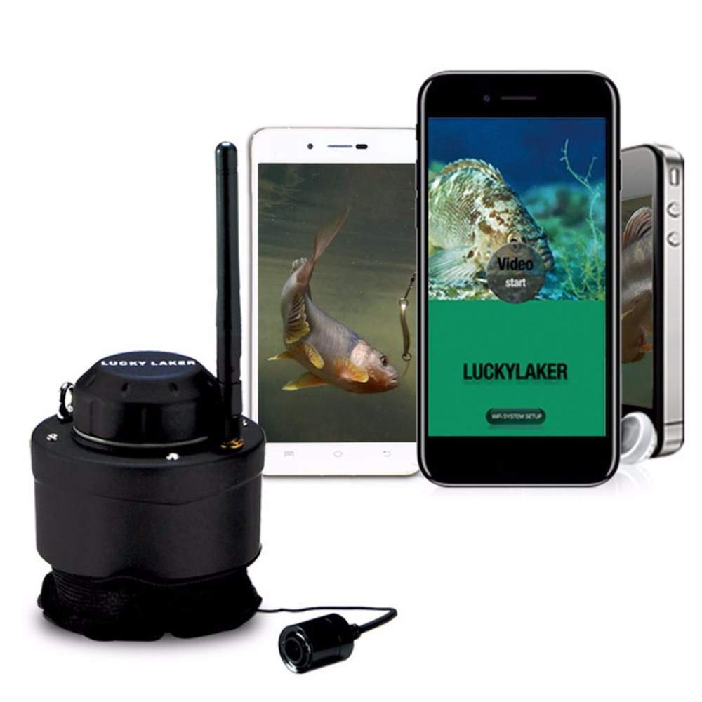 Portable wifi fishing inspection camera underwater camera for Phone fish finder