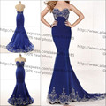 2016 Custom Made New Sweetheart Sexy Evening Dress High Quality Mermaid Beaded Prom Party Pageant Formal Dress 100% Real Photos