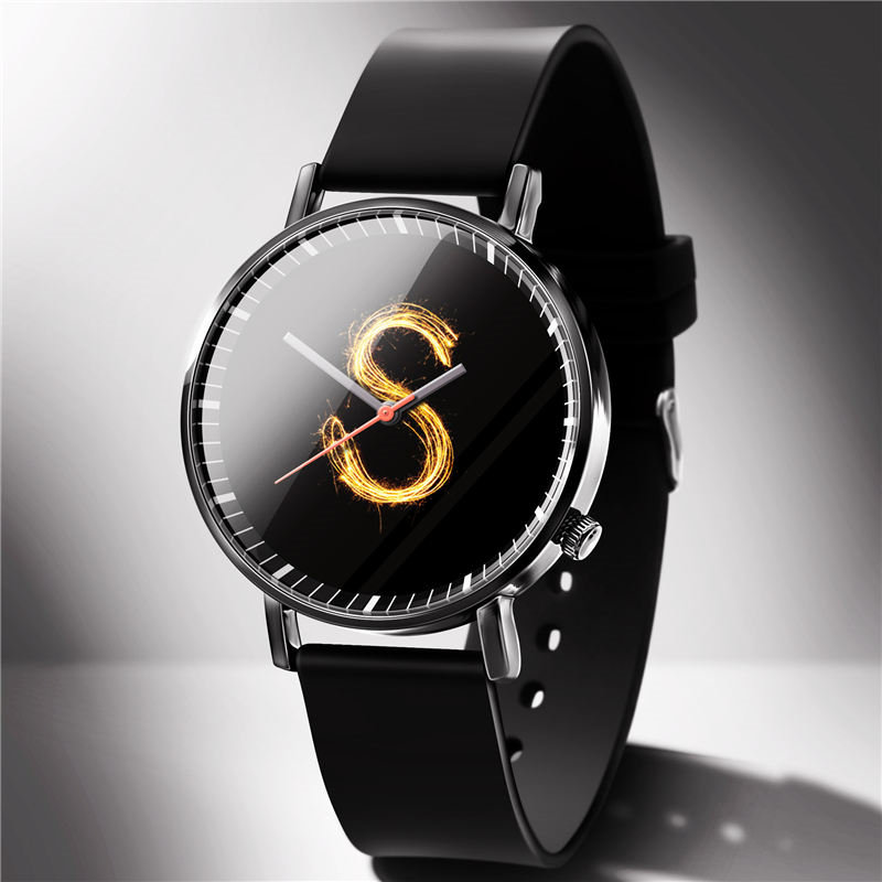 S Lucky Men's Watch Fashion Men Women Watches Couple Wear Clock Lucky Number Montres hommes femmes Homens relogios 2019 Gift