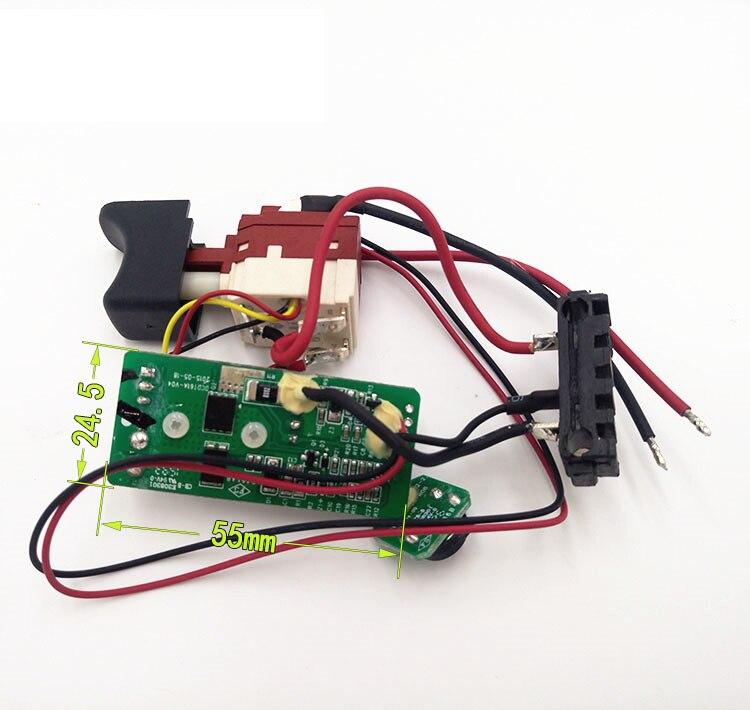 Interruttore per WORX WU176 WX176 WX176.2 WX176.3 WX176.M WX176.M1 20 V WX176.9 Trapano scheda di ControlloInterruttore per WORX WU176 WX176 WX176.2 WX176.3 WX176.M WX176.M1 20 V WX176.9 Trapano scheda di Controllo