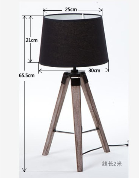 Wood Tripod Table Lamp Home Design Ideas