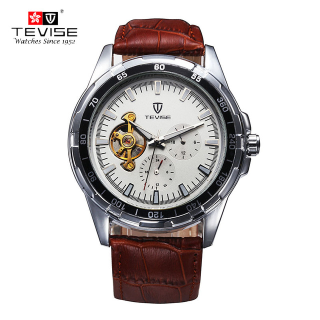 TEVISE Fashion Belt Men's Watch Korean Fashion Stainless Steel Mechanical Wristwatches Super Luminous Waterproof watch men 292