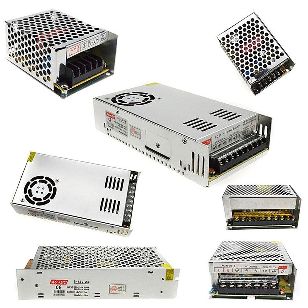 Led Pilote AC100-240V à DC 24 V 1A 2A 3A 5A 10A 15A 20A 30A 40A 50A Puissance Adaptateur pour LED Bande lumière Transformateur D'alimentation