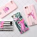 Para iphone 7 casos del color del caramelo zebra pantera rosa suave Caucho de Silicona TPU Caso de La Cubierta para 7 Plus Contraportada precioso