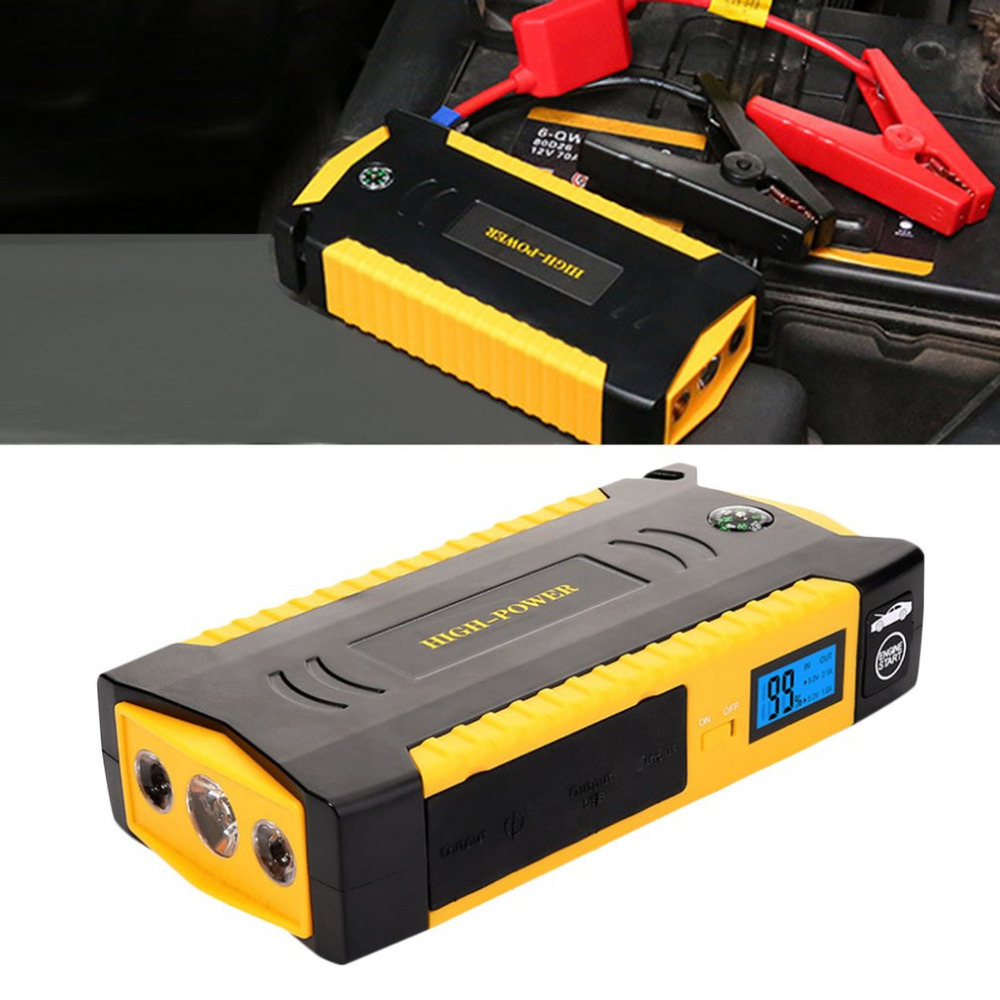 Démarreur de saut de voiture 12000-18000 mAh batterie de voiture batterie externe d'urgence Auto Booster Pack multifonctionnel dispositif de démarrage d'urgence