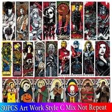 30PCS Mixed Pack Horror Skeleton Stickers Set Graffiti Dark Cool Stickers For Kids Luggage Skateboard Laptop Punk Stickers