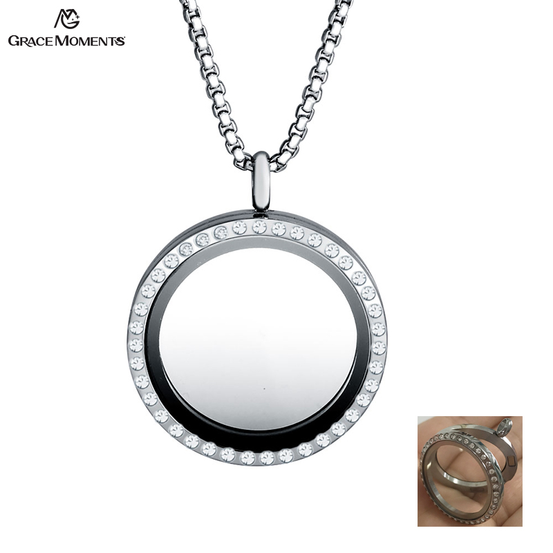Bulk Jewellery Charms Grace Moments 30mm Round Glass Photo Frame Memory Locket