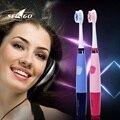 Seago ultrasonidos cepillo de dientes eléctrico de la marca + 3 pcs free cabezales de repuesto para niños oral dientes cepillo de dientes de viaje scova eletrica