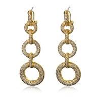 Best Selling Latest Trend Party Fine Jewelry For Women Top Grade Cubic Zirconia Trendy Drop Earrings