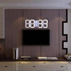 3D настенные часы современный дизайн цифровой светодиодный настенные часы будильник и секундомер, термометр обратного отсчета календарь