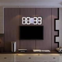 3D Wall Clock Modern Design Digital LED Wall Clock Alarm Stopwatch Thermometer Countdown Calendar Home Decor Wall Watches
