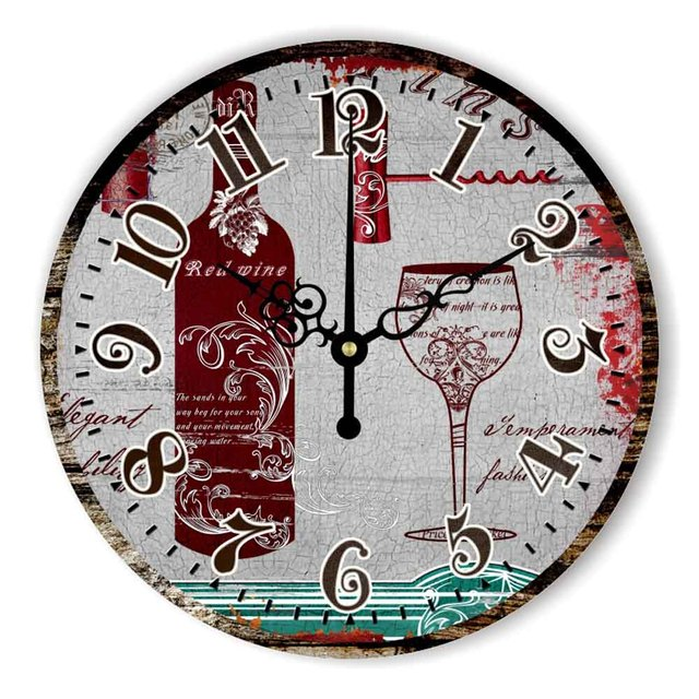 Kitchen Wall Clock Home Decoration With Waterproof Clock Face ...